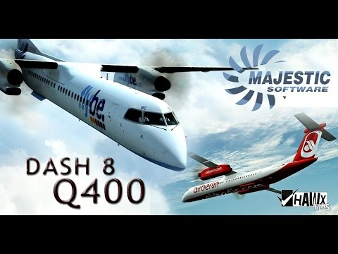 Полёт на BOMBARDIER DASH 8 Q400. MICROSOFT FLIGHT SIMULATOR X.
