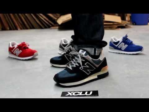 new balance 574 blue on feet