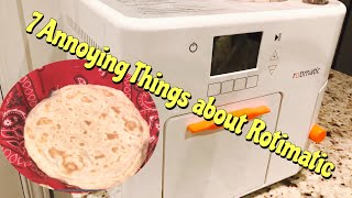 Rotimatic Reviews in Hindi/Urdu -7 Annoying things about Rotimatic