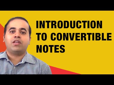 Introduction to Convertible Notes | Wadhwani Foundation
