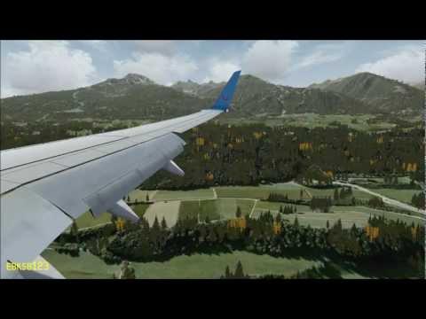 FSX HD 1080p - Landing Dangerous Innsbruck, as REAL as it gets! i7 2600k, GTX 560ti