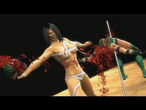 Mortal Kombat 9 Komplete Edition - Mileena Flesh Pit Costume / Skin *All Fatality Swap**MOD* (HD)
