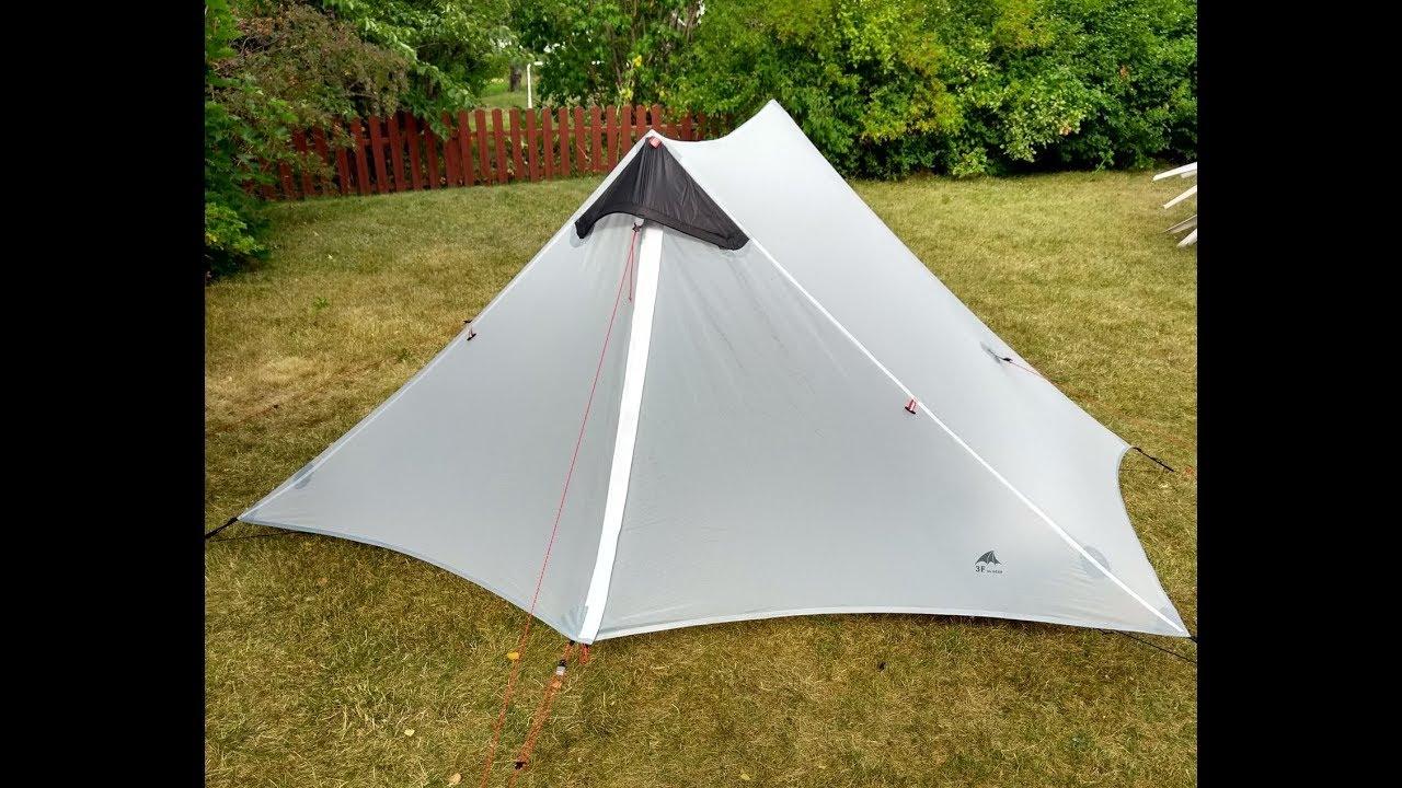 3F UL Gear Lanshan 2 tent & 3F UL Gear Lanshan 2 tent - YouTube