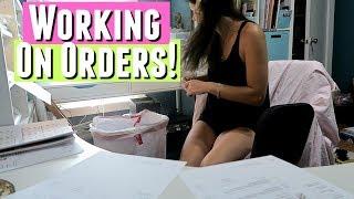 WORKING ON ETSY PLANNER STICKER ORDERS!