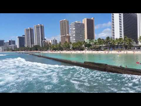 Waikiki Grand Hotel :filmed from the Pier near by