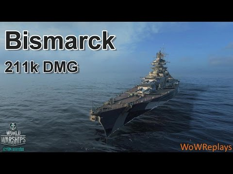 World of Warships: Bismarck, The Power Of Secondaries (348 Hits)