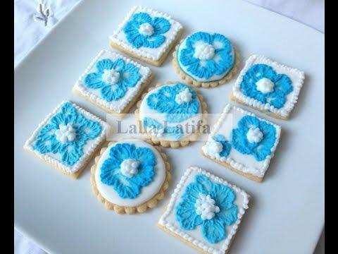 sablés ou cookies décorés au glaçage royal