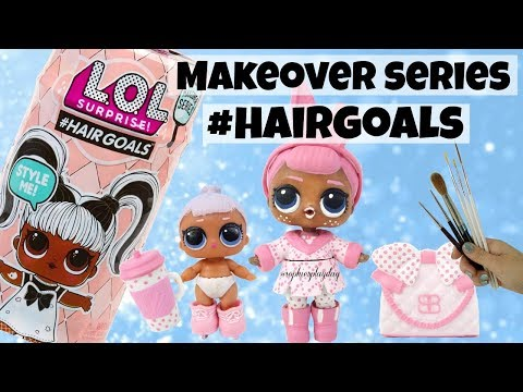 LOL SURPRISE HAIRGOALS Makeover Series Snow Bunny Family Custom L.O.L Surprise Doll Kids Toys