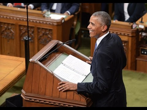 US President Barack Obama Addresses Canada Parliament   Canada PM Justin Trudeau   Mango News