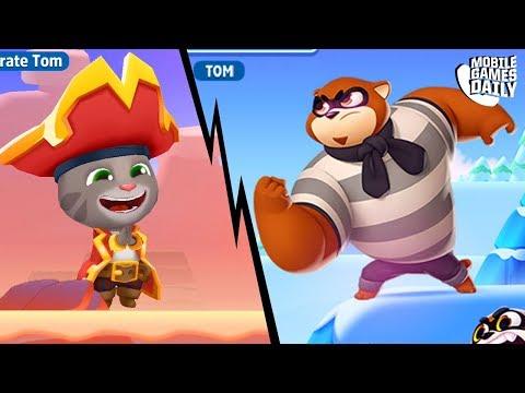 TALKING TOM SPLASH FORCE - Pirate Tom VS Racoon Boss | Tom Hero Dash | Tom Gold Run