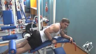 Как накачать ноги (сгибания ног в тренажере лежа, техника)