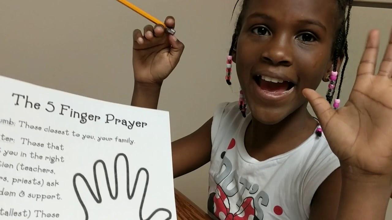 Five Finger Prayer For Children Easy Print Pdf Ministry To Children