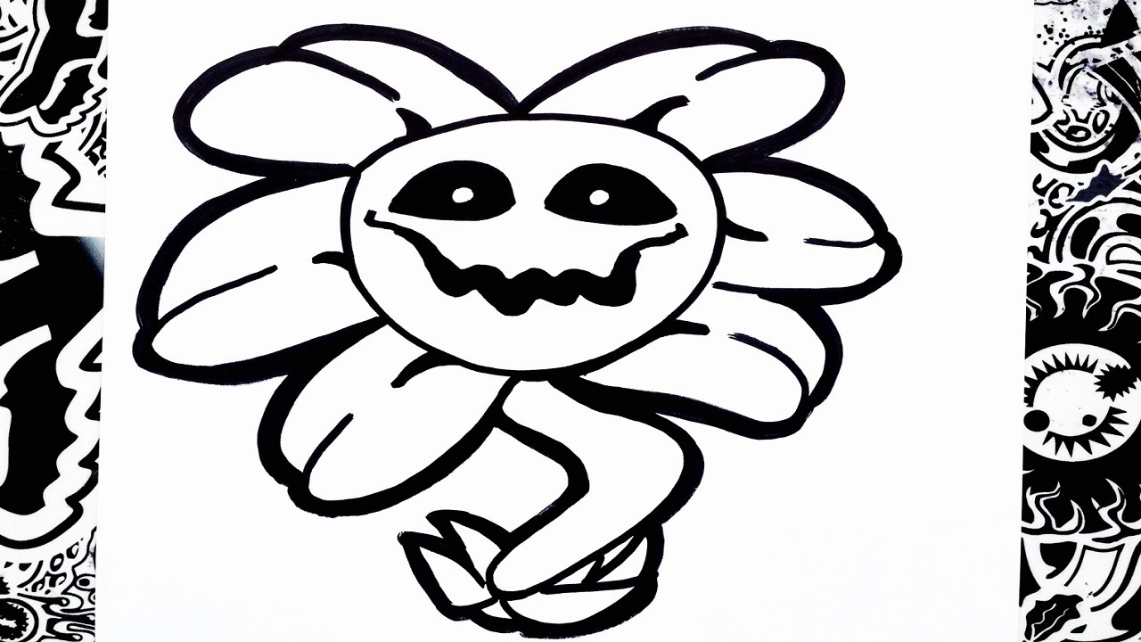 Como dibujar a flowey de undertale how to draw flowey
