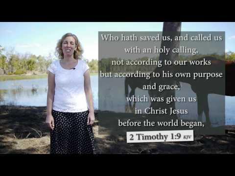 2 Timothy 1:9 KJV - Musical Memory Verse