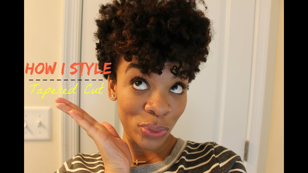 How I Style Tapered Cut Youtube