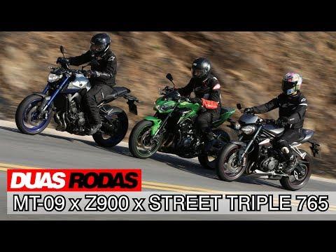 Comparativo: Yamaha MT-09 x Kawasaki Z900 x Triumph Street Triple 765