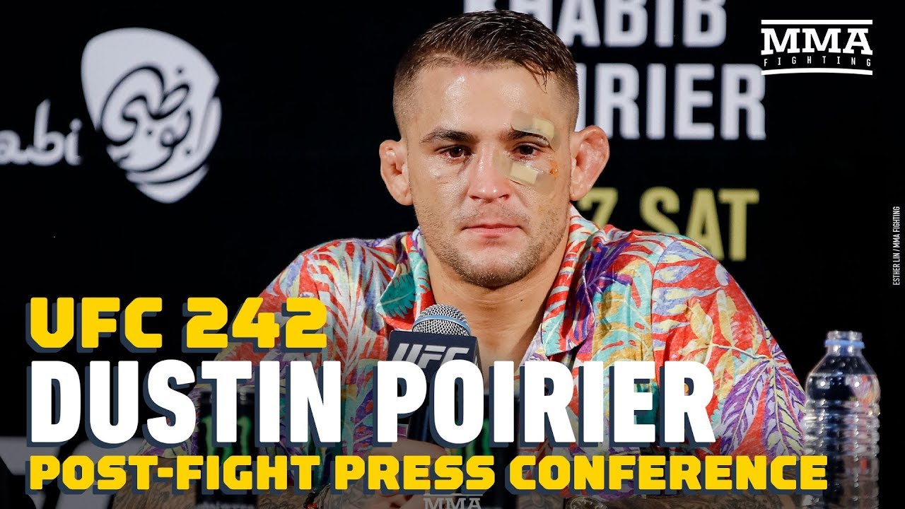 UFC 242: Dustin Poirier Post-Fight Press Conference - MMA Fighting