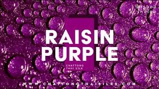 CHATTONG ผ้าไหม 2 เส้น ทอมือ EP. Raisin Purple ( PANTONE NO. 2415 C )