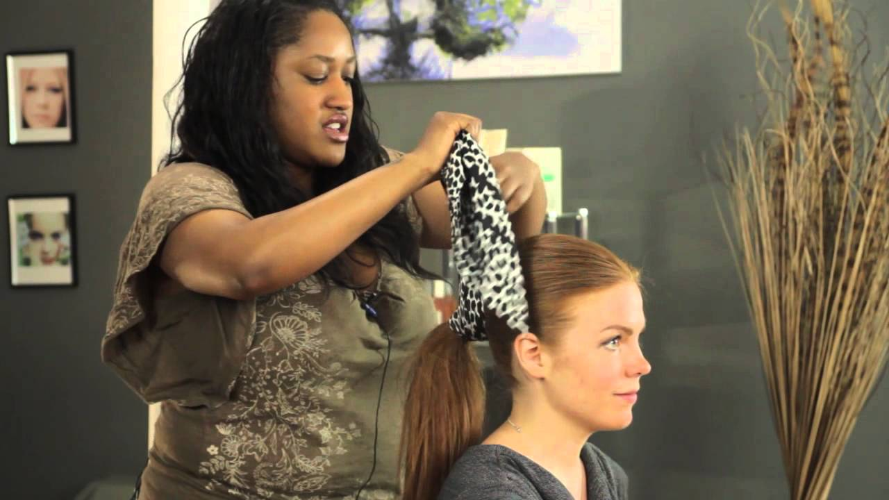 How to Tie a Ponytail Scarf : Updos &amp More  YouTube - 50S Hairstyles