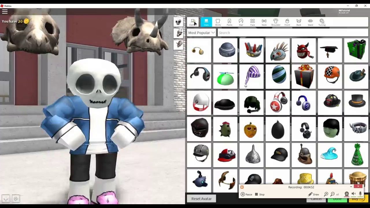 How To Make Sans In Undertale From Roblox Robloxian Highschool