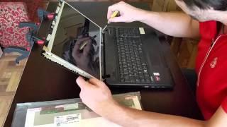 распаковка и Замена экрана ноутбука Toshiba Satellite C660D
