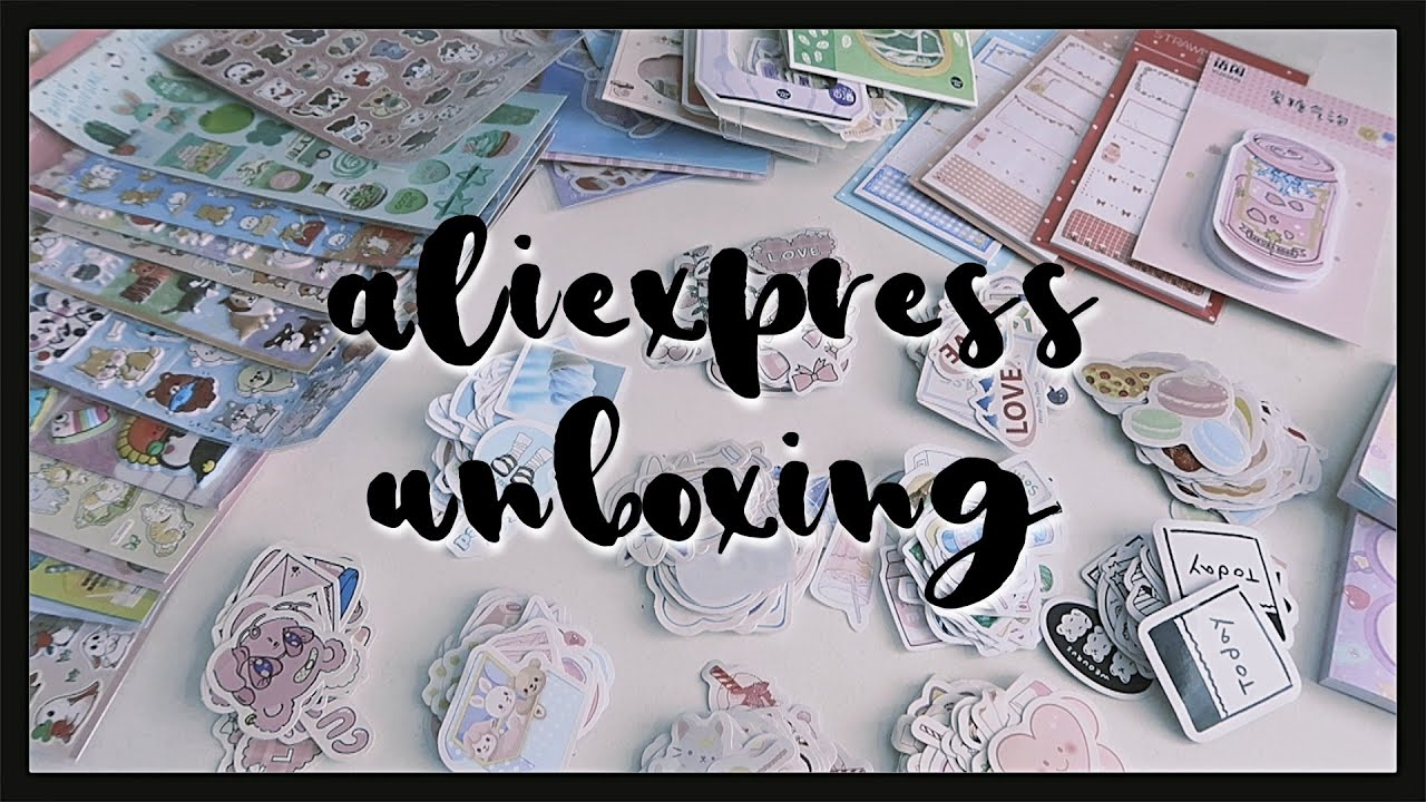 Aliexpress stationery unboxing haul •1• (ASMR- no talking, soft music) 4 parcels
