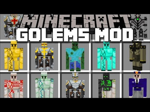 Minecraft MORE GOLEM MOD / BUILD GOLEMS TO FIGHT THE ZOMBIE