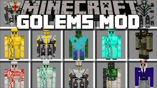 Minecraft MORE GOLEM MOD / BUILD GOLEMS TO FIGHT THE ZOMBIE APOCALYPSE!! Minecraft Mods