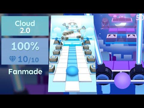 Fanmade Rolling Sky - Cloud 2.0 & Comparison