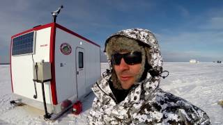 Lesser Slave Lake Ice Fishing Walleye in The Ice Shack