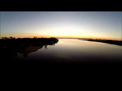 Lake at Sunset (from above)