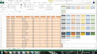 Excel Tables Tutorial #1 How To Create And Use Excel Tables 2013 2010 2007 365