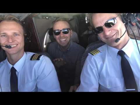 Private jet flight in Europe