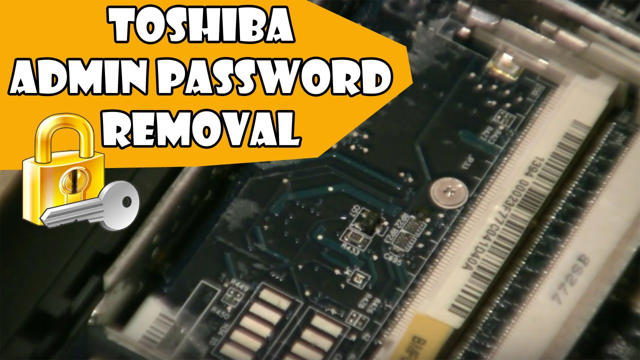 removing password from toshiba laptop
