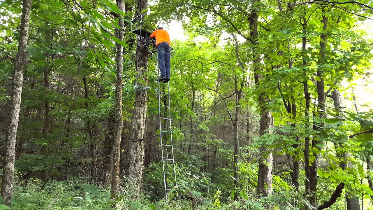 Standing A 2 Person Tree Stand By Myself Youtube