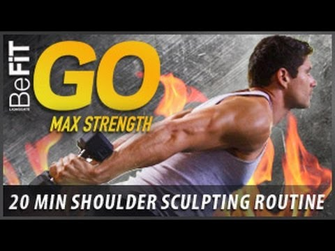 BeFiT GO | Max Strength- 20 Minute Shoulder Sculpting Exercise Routine