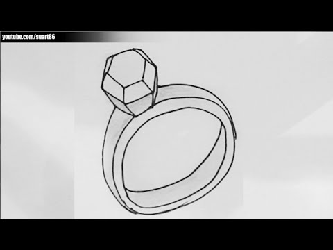How To Draw A Ring Step By Step Youtube
