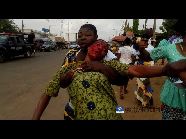 Image result for Woman Stabs Female Voter In The Face With Bottle In Osun