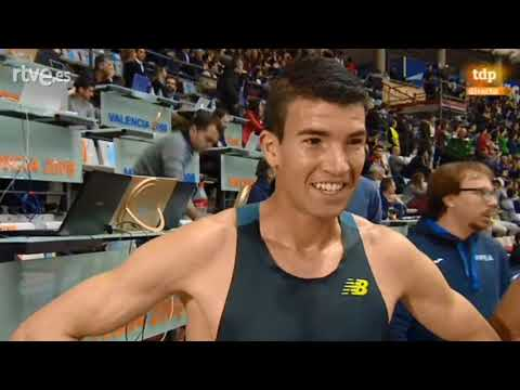 Adel Mechaal - Declaraciones post Campeon de España 3000m indoor 17/02/2017