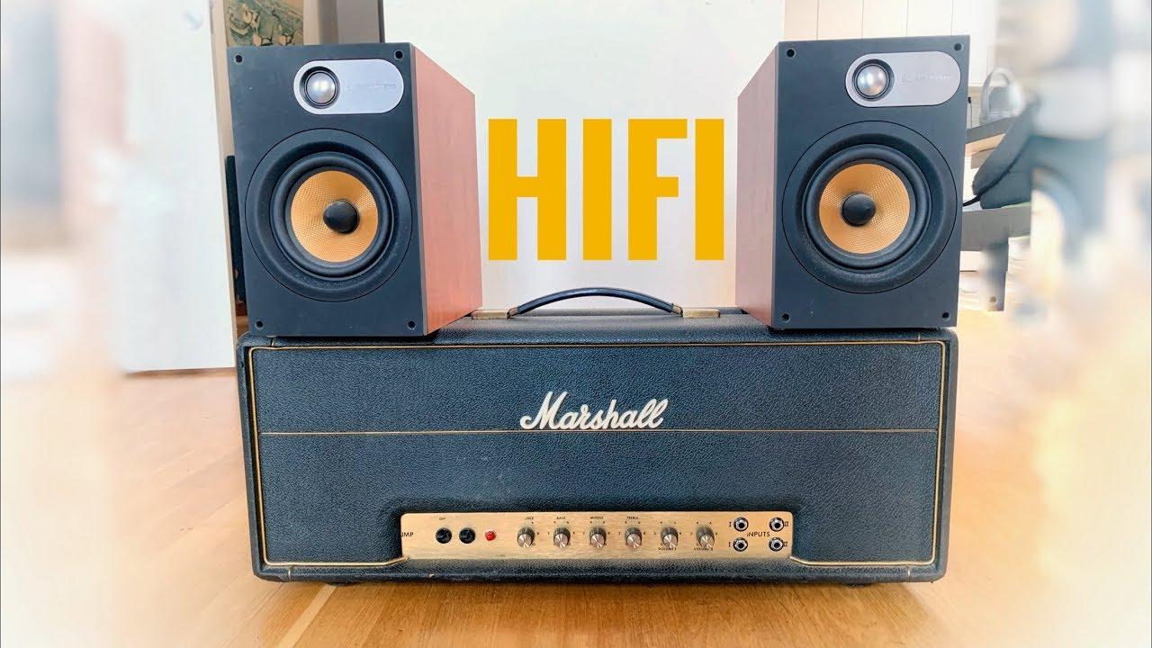 Marshall Plexi + Home Stereo HIFI Speakers = KILLER TONE!!!