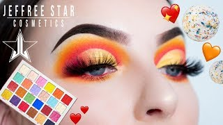 Jeffree Star Jawbreaker Palette Tutorial - Orange and Red Cut Crease
