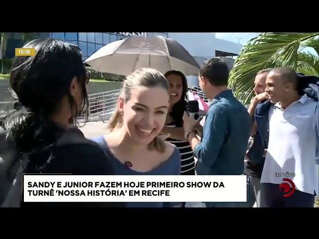 Sandy e Junior fazem hoje primeiro show da turnê 'Nossa História' em Recife