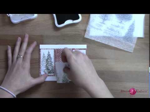 Layered stamping christmas tree card