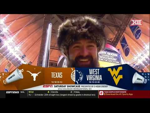 Texas vs West Virginia Men's Basketball Highlights