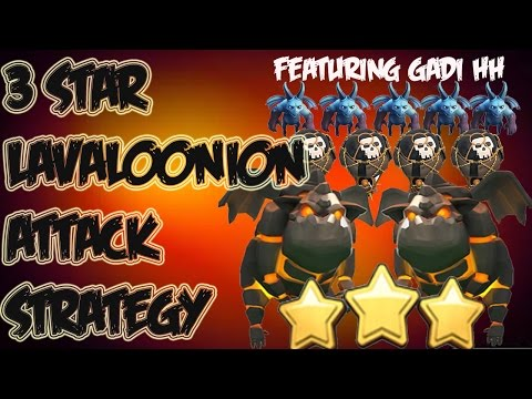 Clash of Clans: Lavaloonion Attack Strategy 3 Stars Maxed TH9s ft Gadi HH