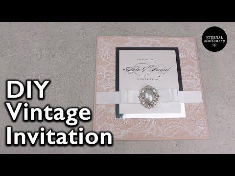 Vintage lace Wedding Invitation | DIY Wedding Invitations, Eternal Stationery