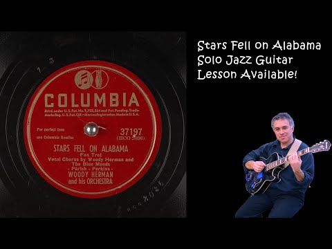 Stars Fell On Alabama, Solo Fingerstyle jazz guitar arrangement by Jake Reichbart
