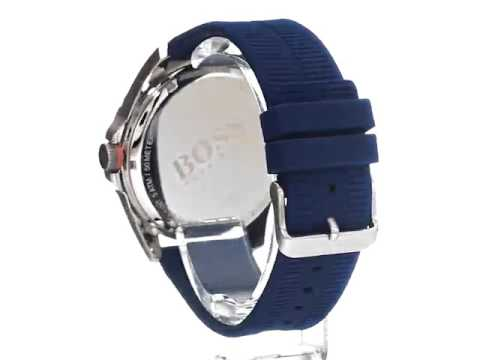 BOSS Orange Men s 1513286 berlin Analog Display Quartz Blue Watch ... 74cc2a4f06a