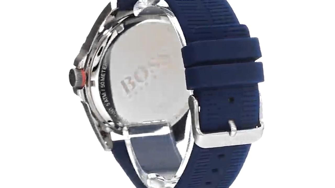 e3c3bb181 BOSS Orange Men's 1513286 berlin Analog Display Quartz Blue Watch - YouTube