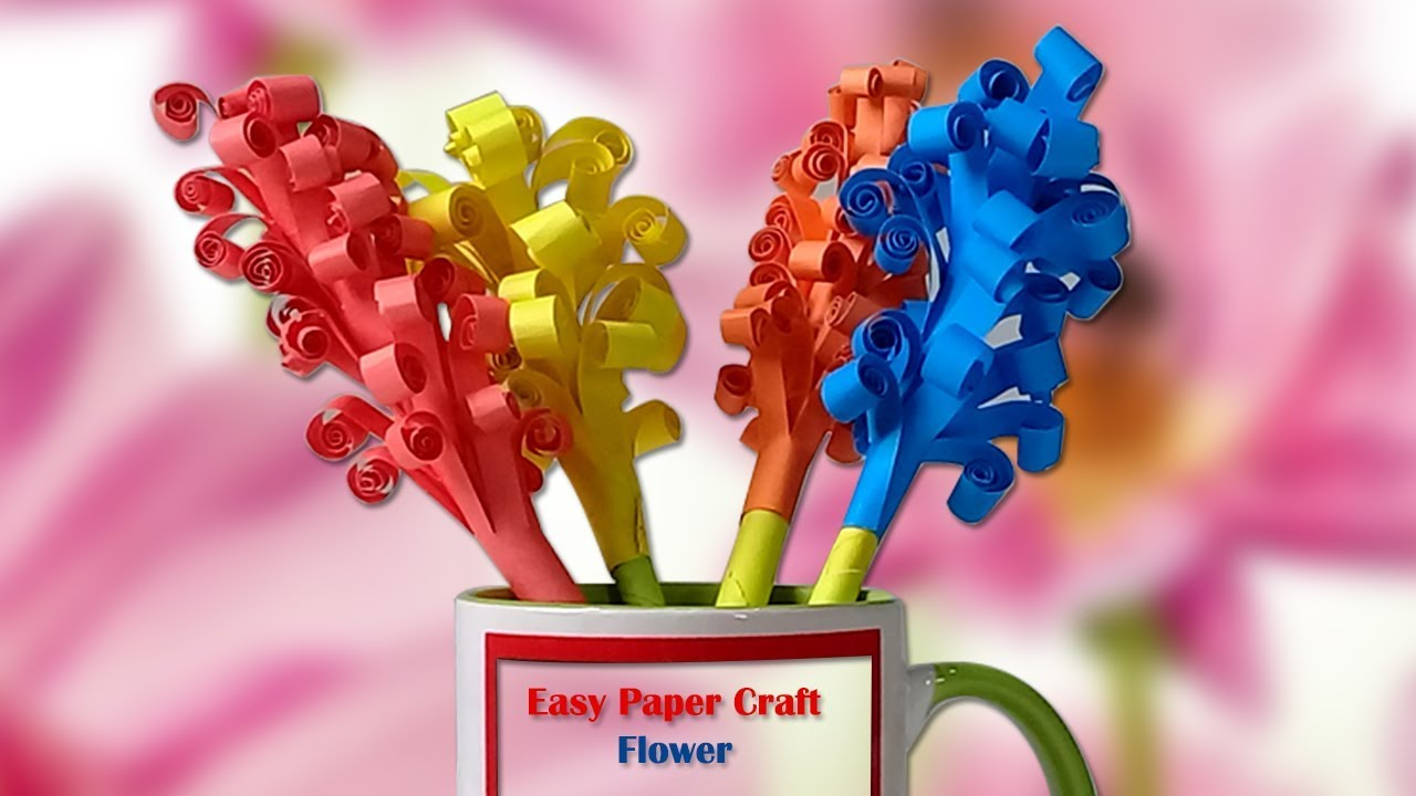 how to make craft flowers out of paper